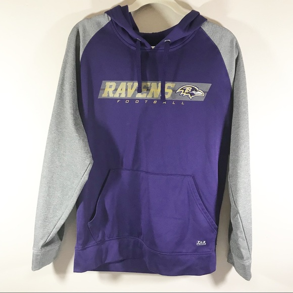 best service c83c3 3da50 NFL Baltimore Ravens hoodie sweatshirt purple grey